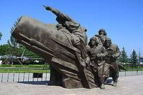 中国空军战士塑像