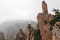 黄山春  飞来石景观
