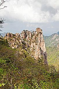 黄山春  清凉台的山峰怪石