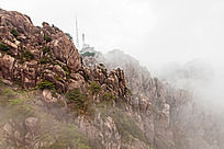 黄山春  雨雾飘渺