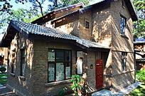 清华校园的砖瓦别墅