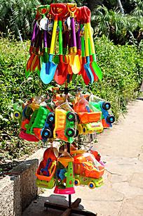 一堆儿童玩具