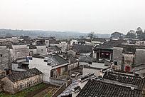 俯瞰黟县南屏村落