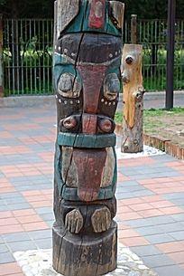 美洲印第安土著的图腾柱