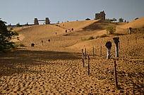 沙坡头里的沙漠