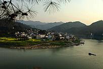 樟潭村的黄昏景色