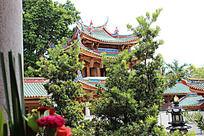寺庙建筑群  传统元素建筑