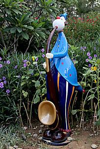 吹沙克斯的人物雕塑
