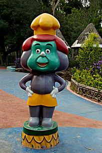 公园里的卡通人物雕塑