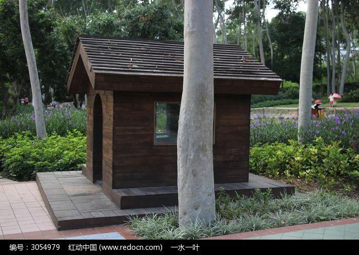 公园里的小木屋图片,高清大图_园林景观素材