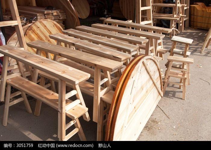 家庭用木制条凳图片