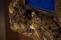 龙形鎏金木雕图案