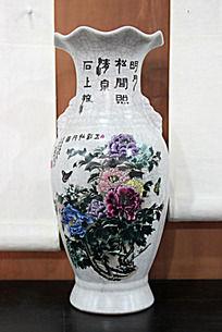 牡丹图案艺术花瓶