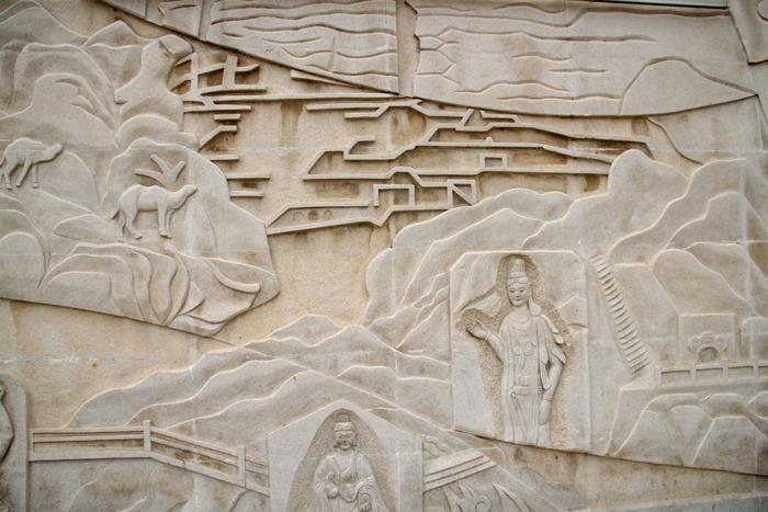 石刻艺术墙面壁画图片