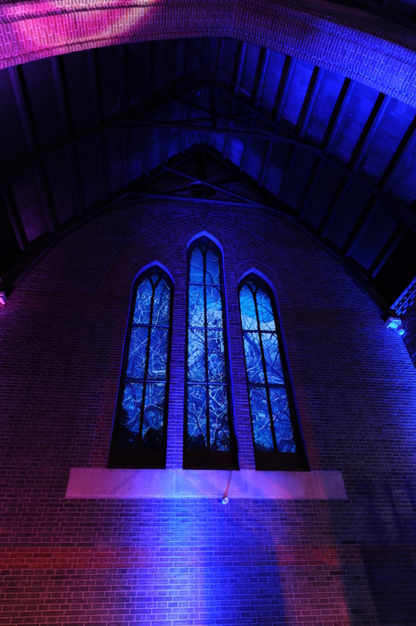 夜景教堂的窗户高清图片下载 编号3061441 红动网