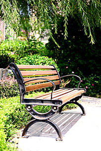 建筑景观公园木椅座椅