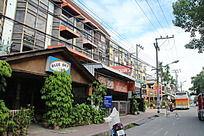 泰国居民区街道门店