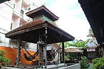 泰国特色家庭旅馆客栈休息亭