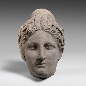 外国妇人头石雕人物雕刻艺术
