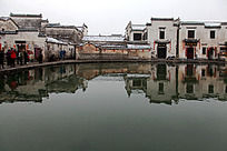 水塘月民居建筑的结合