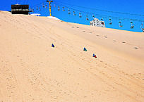 宁夏沙坡头滑沙场