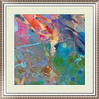 漂亮的抽象油画 复古抽象油画
