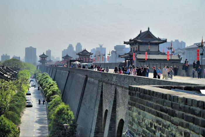 西安的古城墙图片,高清大图_名胜古迹素材