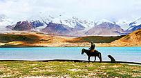 新疆高原背景图