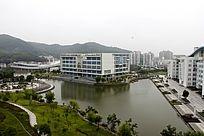浙江海洋学院校园鸟瞰图教学楼
