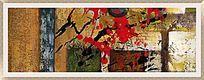 抽象装饰画 手绘画