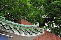 琉璃瓦飞檐屋顶