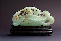 和田玉羊脂白玉鲤鱼商业摄影