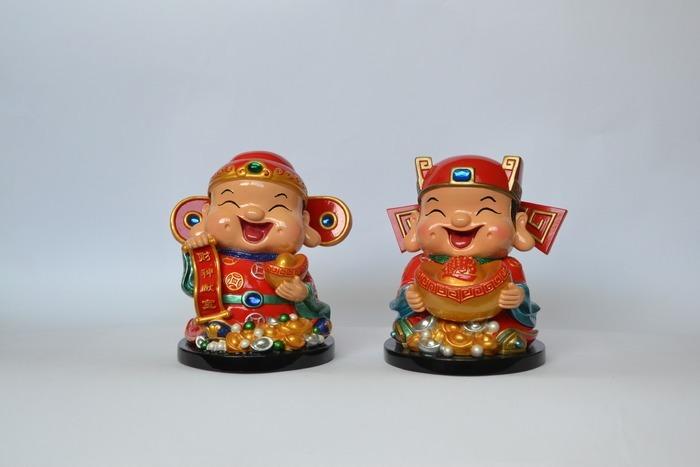 可爱财神爷人物陶瓷工艺品