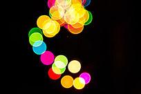 流光溢彩的节日灯光