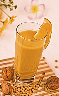 核桃柑橘豆浆