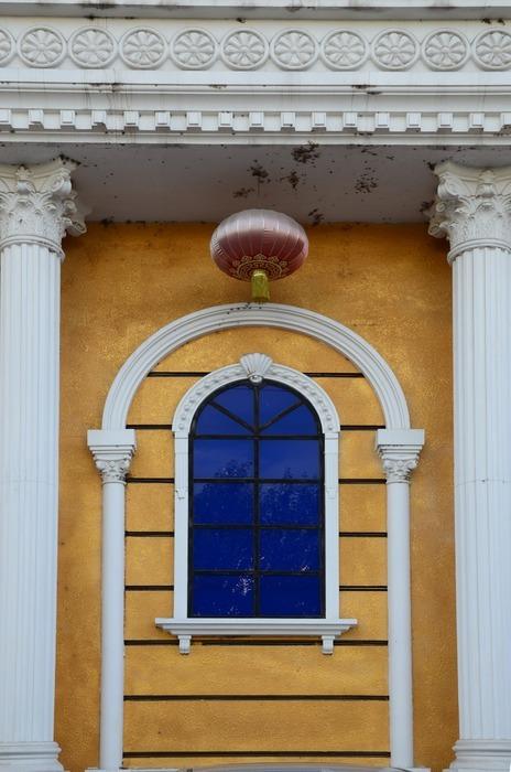 欧式 窗户 园林 建筑