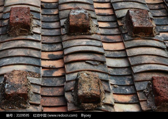 瓦片石砖屋顶图片素材下载(编号:3109595)