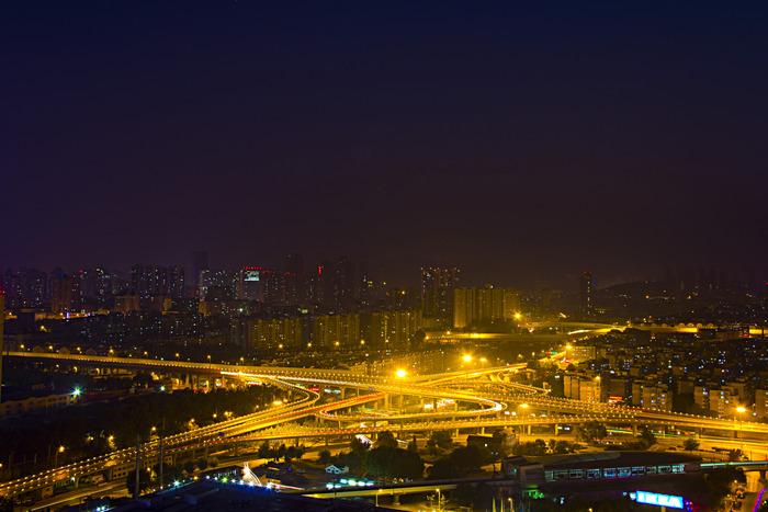 城市立交桥夜景