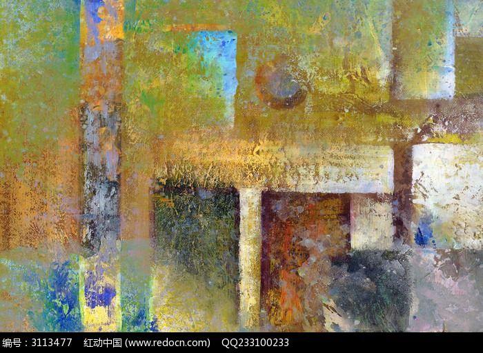 色块抽象装饰画图片,高清大图_插画绘画素材