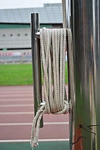 升旗旗杆和绳索