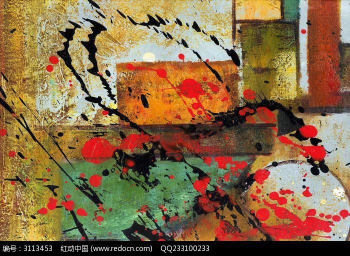 现代抽象画 色块抽象图片,高清大图_插画绘画素材
