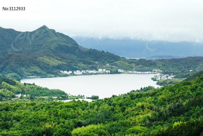 黟县奇墅湖风光图片