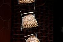 竹编背篓手工艺品