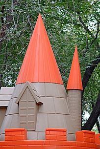 儿童乐园里的童话城堡