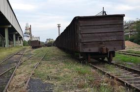 废弃火车车厢