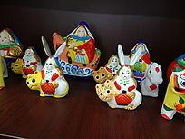 黑色北京兔爷虎头雕塑传统工艺