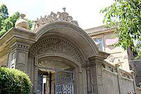 欧式花纹大门建筑