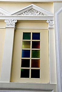 欧式花纹建筑窗户