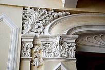 欧式花纹建筑特写