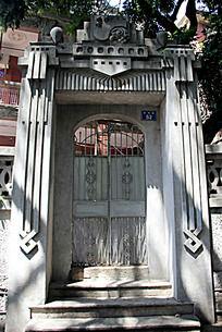 欧式花纹石雕大门